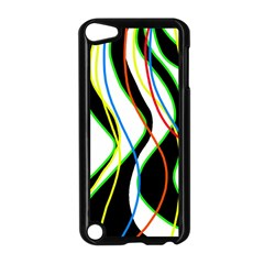 Colorful lines - abstract art Apple iPod Touch 5 Case (Black)