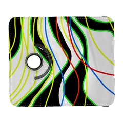 Colorful lines - abstract art Samsung Galaxy S  III Flip 360 Case