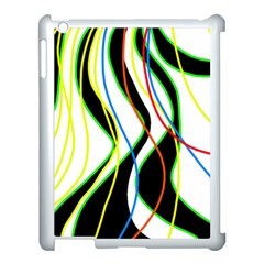 Colorful lines - abstract art Apple iPad 3/4 Case (White)