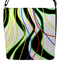 Colorful lines - abstract art Flap Messenger Bag (S)