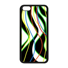 Colorful lines - abstract art Apple iPhone 5C Seamless Case (Black)