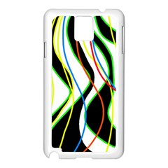 Colorful lines - abstract art Samsung Galaxy Note 3 N9005 Case (White)