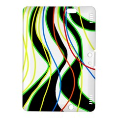 Colorful lines - abstract art Kindle Fire HDX 8.9  Hardshell Case