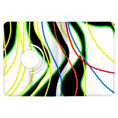 Colorful lines - abstract art Kindle Fire HDX Flip 360 Case