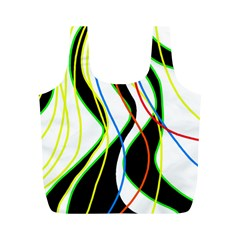 Colorful lines - abstract art Full Print Recycle Bags (M)
