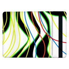 Colorful lines - abstract art Samsung Galaxy Tab Pro 12.2  Flip Case