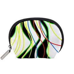 Colorful lines - abstract art Accessory Pouches (Small)