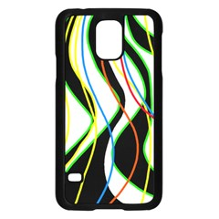 Colorful lines - abstract art Samsung Galaxy S5 Case (Black)