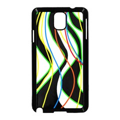 Colorful lines - abstract art Samsung Galaxy Note 3 Neo Hardshell Case (Black)