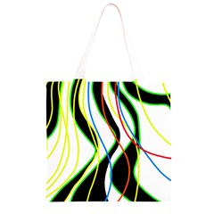 Colorful lines - abstract art Grocery Light Tote Bag