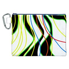 Colorful lines - abstract art Canvas Cosmetic Bag (XXL)