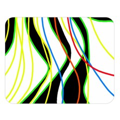 Colorful lines - abstract art Double Sided Flano Blanket (Large)