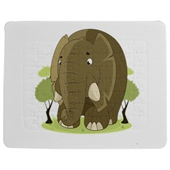 Elephant Animal Jungle Savannah Jigsaw Puzzle Photo Stand (Rectangular)