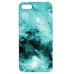 Turquoise Abstract Apple Iphone 5 Hardshell Case With Stand