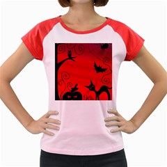 Halloween landscape Women s Cap Sleeve T-Shirt