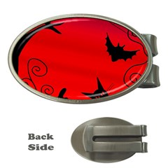 Halloween landscape Money Clips (Oval)