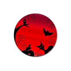 Halloween landscape Magnet 3  (Round)