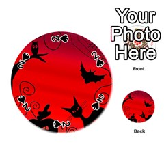 Halloween landscape Playing Cards 54 (Round)