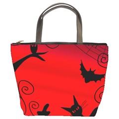 Halloween landscape Bucket Bags