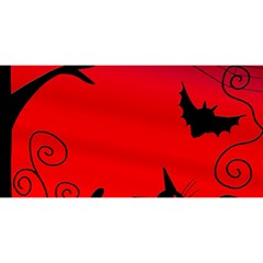 Halloween landscape YOU ARE INVITED 3D Greeting Card (8x4)