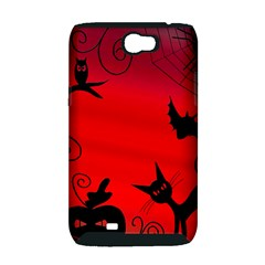 Halloween landscape Samsung Galaxy Note 2 Hardshell Case (PC+Silicone)