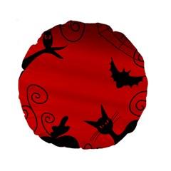 Halloween landscape Standard 15  Premium Round Cushions