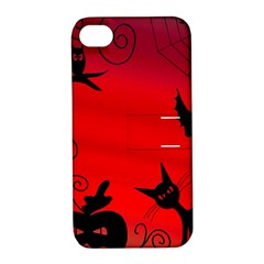 Halloween landscape Apple iPhone 4/4S Hardshell Case with Stand