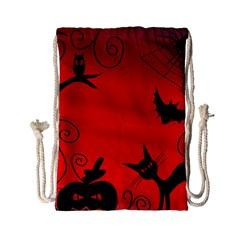 Halloween landscape Drawstring Bag (Small)