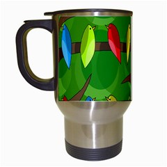 Parrots Flock Travel Mugs (White)