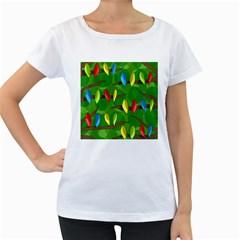 Parrots Flock Women s Loose-Fit T-Shirt (White)