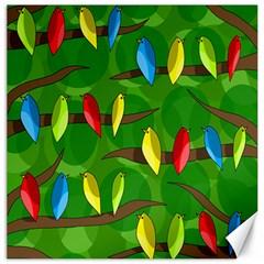 Parrots Flock Canvas 20  x 20