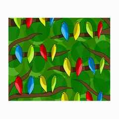 Parrots Flock Small Glasses Cloth (2-Side)