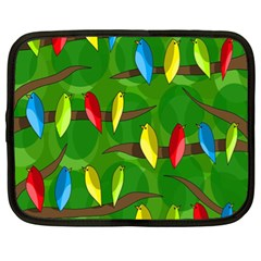 Parrots Flock Netbook Case (XL)