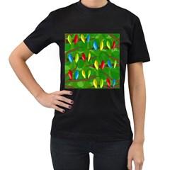 Parrots Flock Women s T-Shirt (Black)