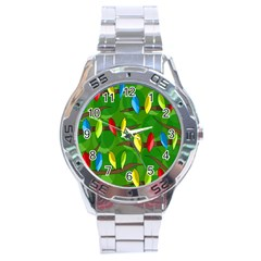Parrots Flock Stainless Steel Analogue Watch