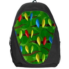 Parrots Flock Backpack Bag