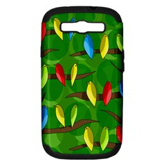 Parrots Flock Samsung Galaxy S III Hardshell Case (PC+Silicone)