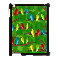 Parrots Flock Apple iPad 3/4 Case (Black)