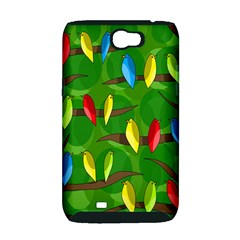 Parrots Flock Samsung Galaxy Note 2 Hardshell Case (PC+Silicone)