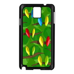 Parrots Flock Samsung Galaxy Note 3 N9005 Case (Black)