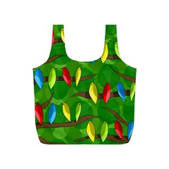 Parrots Flock Full Print Recycle Bags (S)