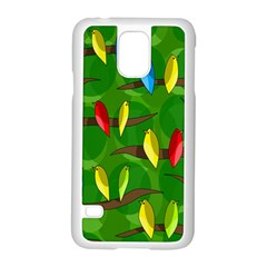 Parrots Flock Samsung Galaxy S5 Case (White)