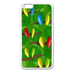 Parrots Flock Apple iPhone 6 Plus/6S Plus Enamel White Case