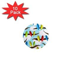 Parrots flock 1  Mini Magnet (10 pack)
