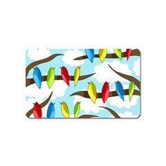 Parrots flock Magnet (Name Card)