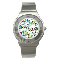 Parrots flock Stainless Steel Watch