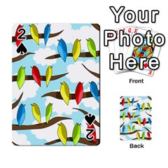 Parrots flock Playing Cards 54 Designs
