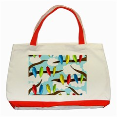 Parrots flock Classic Tote Bag (Red)