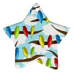 Parrots flock Star Ornament (Two Sides)