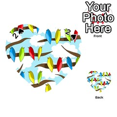 Parrots flock Playing Cards 54 (Heart)
